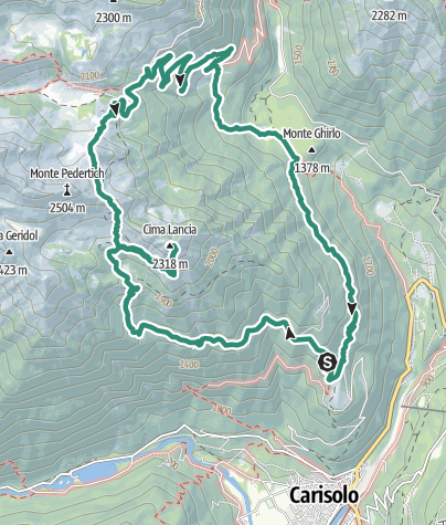 Map / Cima Lancia  - Gruppo Presanella