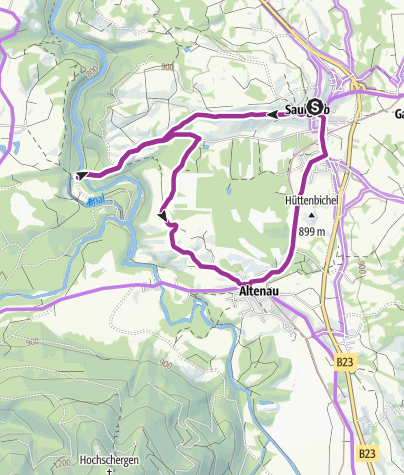 Map / Cycle tour – Kammerl route