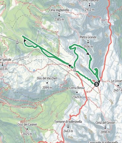 Map / Gustavo Vidi Via Ferrata – Brenta Dolomites