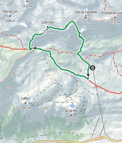 """Map / Alta Via """"Bepi Zac"""""""