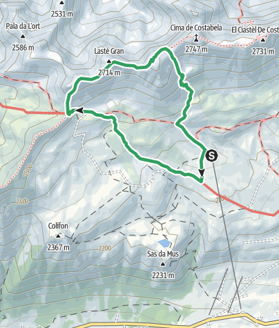 "Map / Alta Via ""Bepi Zac"""