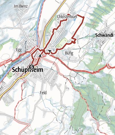 Karte / Kulturweg Schüpfheim