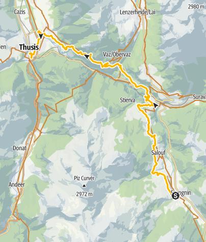 Map / Thusis / Alter Schin