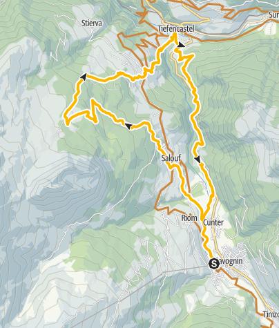 Map / Munter-Tiefencastel