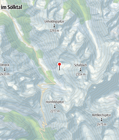 Karte / Mahdfeldhütte 1718m