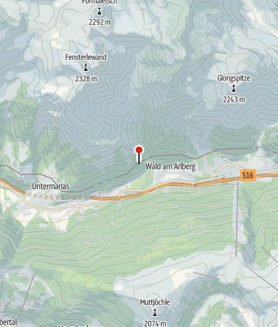 "Karte / Dalaas, Burgruine ""Bürgle"""