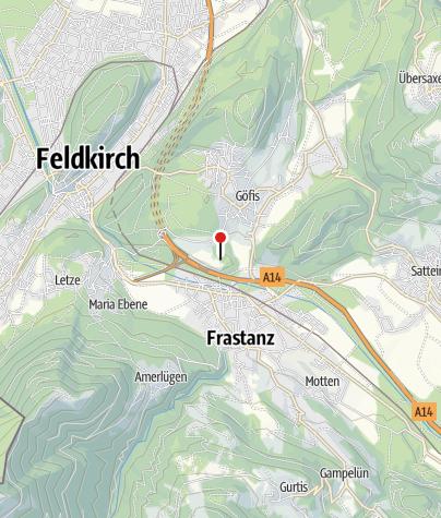 Karte / Göfis, Burgruine Sigberg