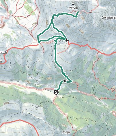 Map / Cima Sassopiatto di Mezzo