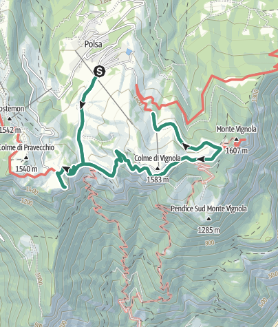 Map / Giro del Monte Vignola