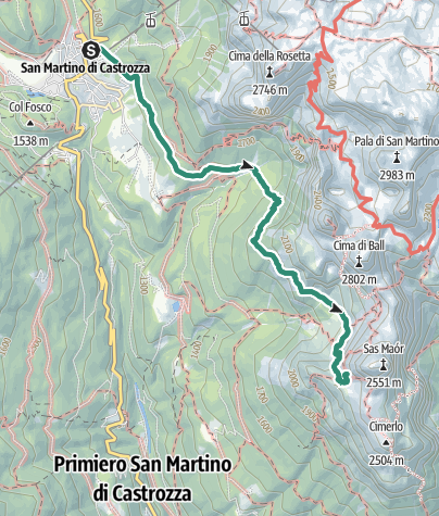 Map / Trekking al Rifugio Velo della Madonna