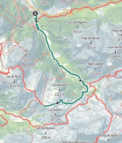 Map / Val Contrin – rifugi Contrin e Passo San Nicolò