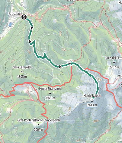 Karte / Monte Rujoch da rifugio Tonini
