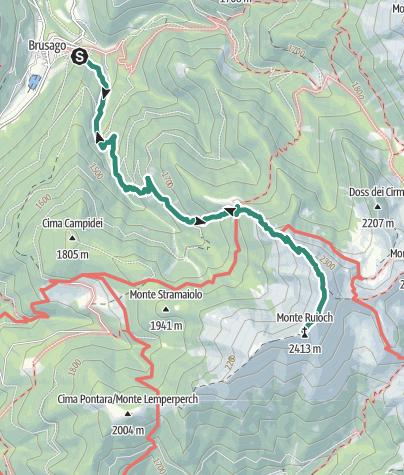Map / Monte Rujoch da rifugio Tonini