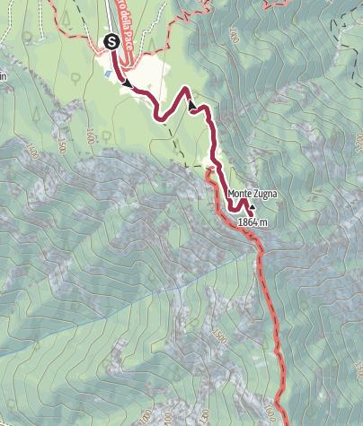 Cartina / Monte Zugna