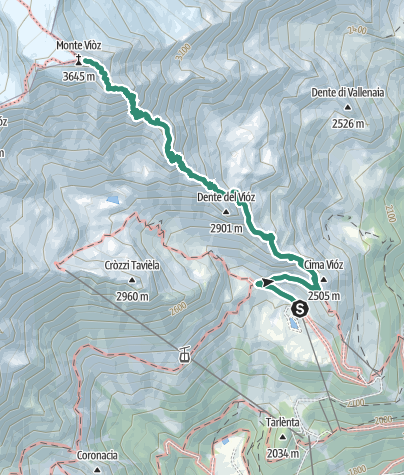 Karte / Dos dei Cembri – Monte Vioz