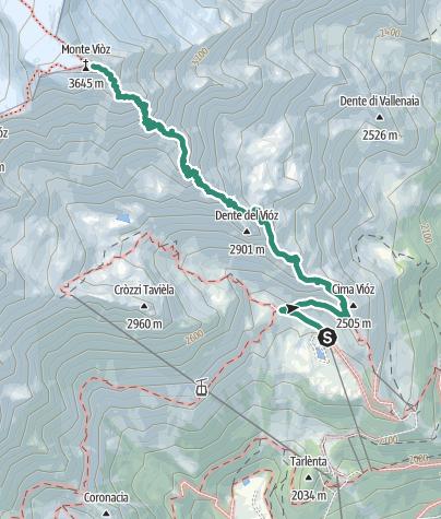 Map / Dos dei Cembri – Monte Vioz