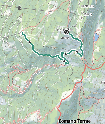 Map / Doss del Sabion – Malga Bandalors - Prarodont