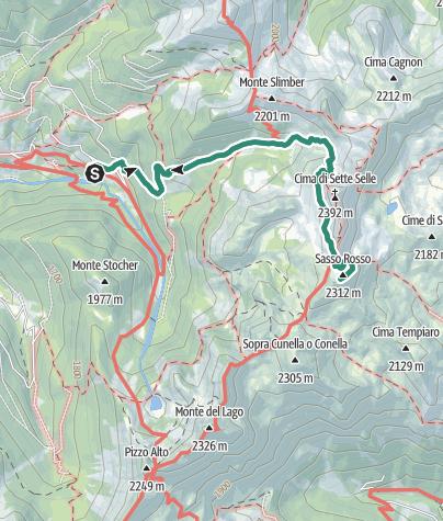Cartina / Rifugio Sette Selle – Sasso Rosso