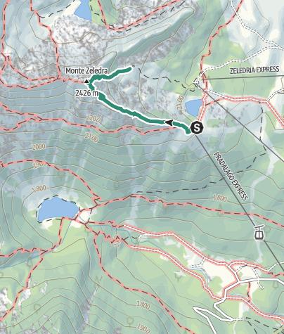 Cartina / Monte Zeledria