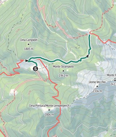 Cartina / Malga Stramaiolo - Rifugio Tonini