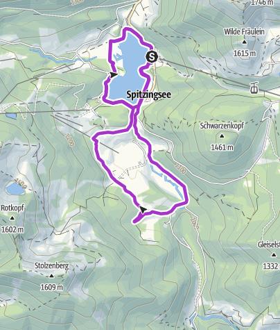 Karte / Sixtus ALPENTRIATHLON Schliersee Laufstrecke