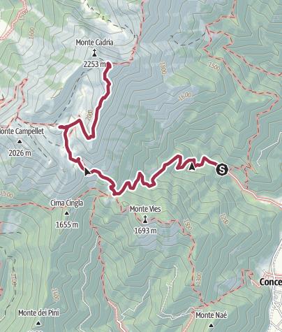 Map / Malga Vies – Monte Cadria