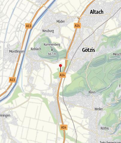 Karte / Koblach, Burgruine Neuburg