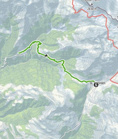 Map / Von St. Antönien über die Chleibach-Hängebrücke nach Schuders
