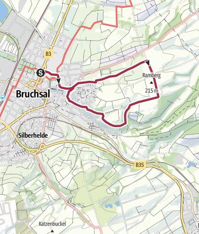 Karte / Hohlwegewanderung ab Bruchsal - Route 1