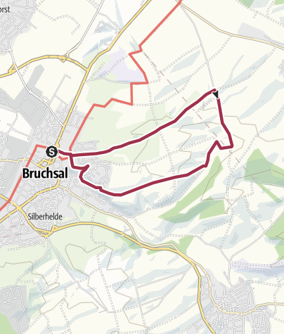 Carte / Hohlwegwanderung ab Bruchsal - Route 2