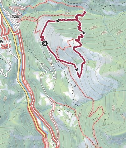 Carte / Sur les traces de l'ours grand circuit