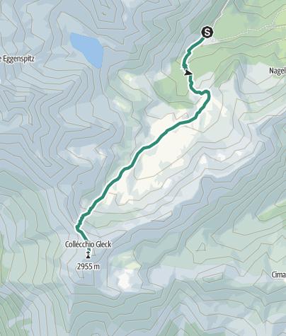 Mapa / Bergtour auf die Gleckspitze