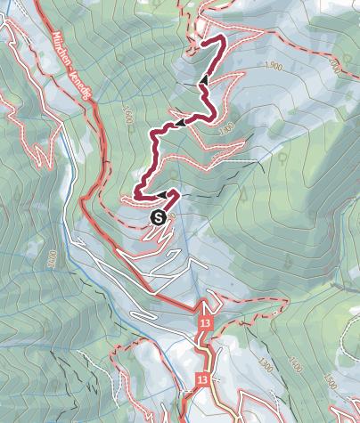 Karte / Auf die Gampiel Alm in den Pfunderer Bergen