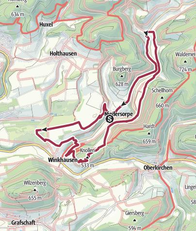 Karte / Rothaarsteig-Spur Sorper Panoramapfad
