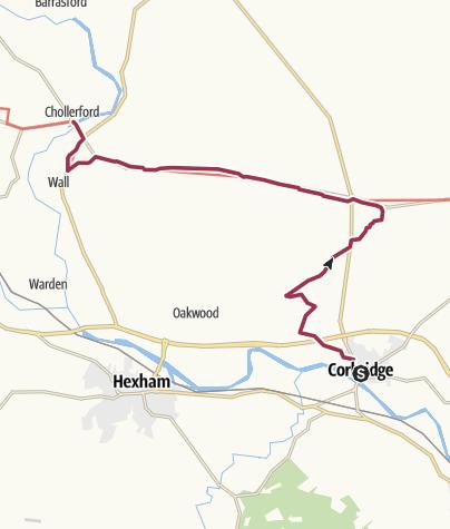 Map / Corbridge to Chollerford
