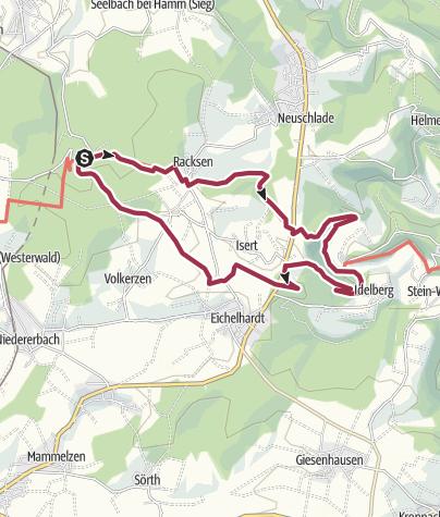 """Karte / WesterwaldSteig-Erlebnisschleife """"Kloster Marienthal und das Ende der Welt"""""""