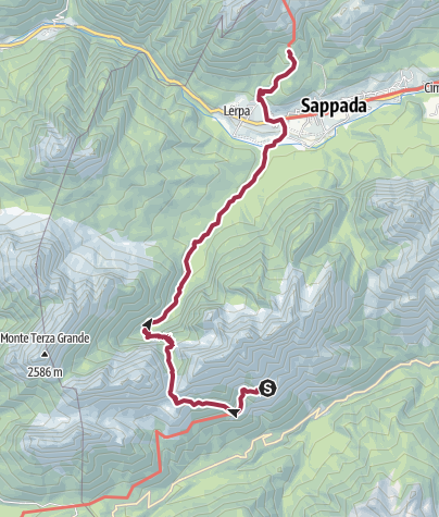 Karte / Etappe 23b - Rif. de Gasperi-Rif. M. Ferro