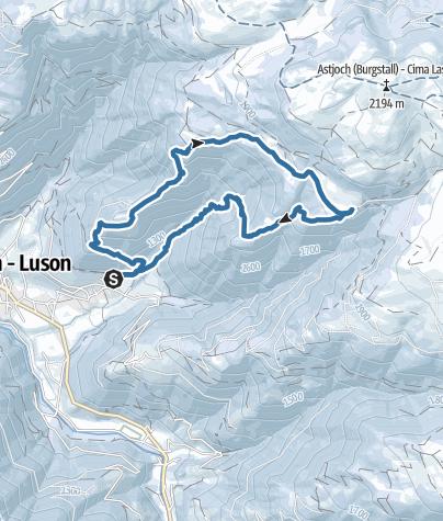 Karte / Gargitt - Kreuzwiese - Lüsneralm