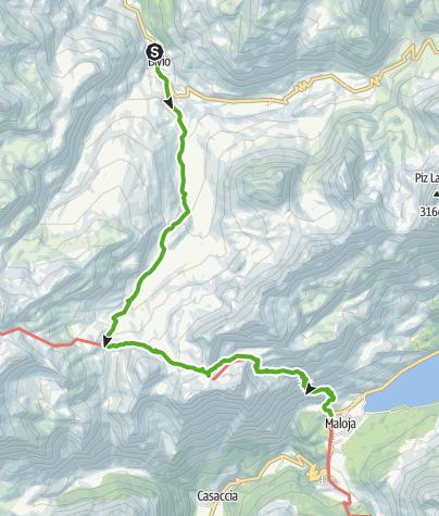 Karte / Lunghin - Dreifache Wasserscheide