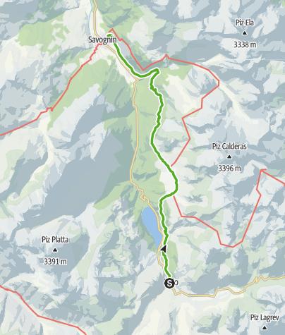 Karte / Alp Flix - Moorlandschaft von nationaler Bedeutung