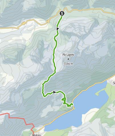 Karte / Julierpass La Veduta - Grevasalvas - Plaun da Lej
