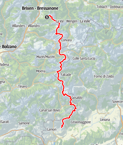 Map / Dolomites High Route n. 2
