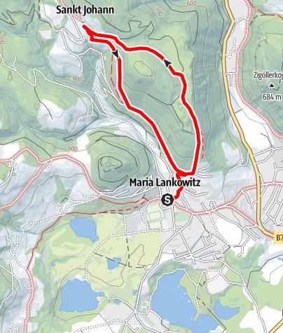 Karte / Lankowitzer Kurzreise auf den Kirchberg