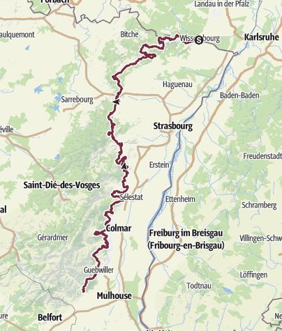 Carte / Le chemin des châteaux forts d'Alsace