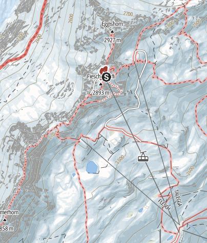 Karte / Themenweg Rundweg am Eggishorn