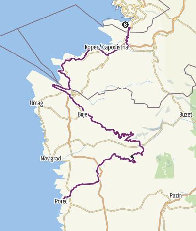 Map / Parenzana cycling trail