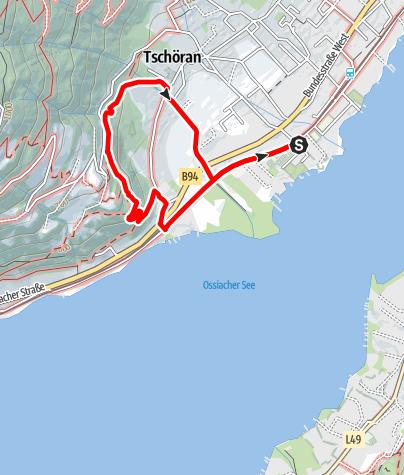 Karte / Wandern am Ossiacher See - Wanderung zum Aussichtpunkt Peterlewand