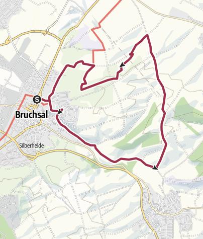 Karte / Hohlwegwanderung ab Bruchsal - Route 3
