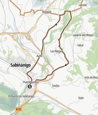 Mapa / Espacio MTB Pirineos - Alto Gallego. Puente Las Pilas