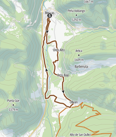 Mapa / Espacio MTB Pirineos - Alto Gallego. Oliván